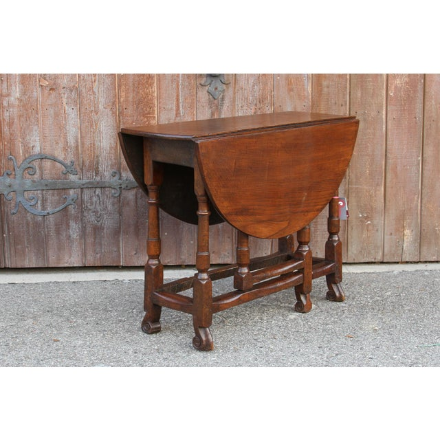 19th C. English Gateleg Console For Sale In Los Angeles - Image 6 of 11