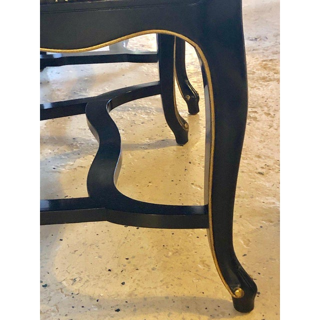 Set of Eight Queen Anne Ebonized and Gilt Decorated Dining Chairs For Sale - Image 9 of 13