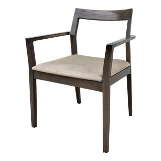 Contemporary Marc Krusin for Knoll Krusin Wood Side Dining Arm Chair For Sale