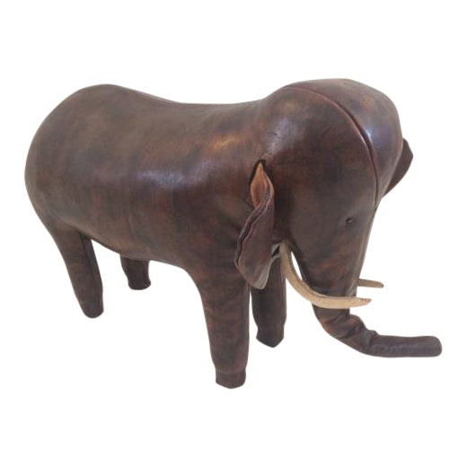 Vintage Omersa for Abercrombie & Fitch Leather Elephant For Sale