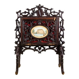 Antique Swiss Black Forest Carved Canterbury For Sale