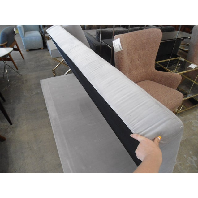 Intuition Light Gray Tufted Velvet Daybed For Sale In Los Angeles - Image 6 of 7