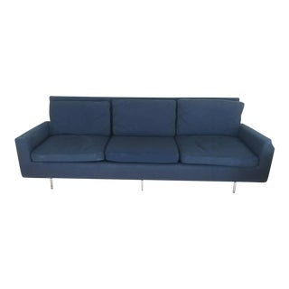 Vintage Knoll Original Mid-Century Modern Wool Sofa in Navy