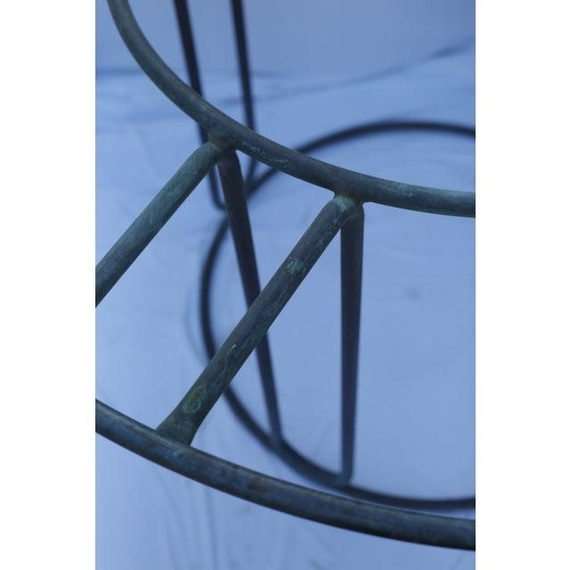 Walter Lamb Brown Jordan Patinated Bronze Patio Table - Image 3 of 5