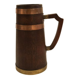 Late 20th Century French Wood Wine Jug For Sale