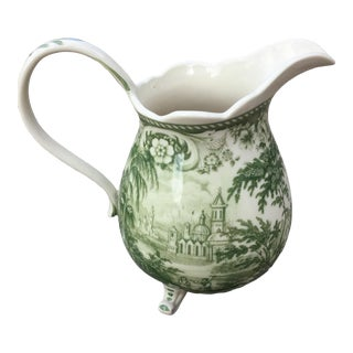 English Green & Cream Pitcher For Sale