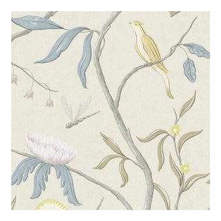 Adam's Eden Scandi Botanic Style Wallpaper Sample For Sale
