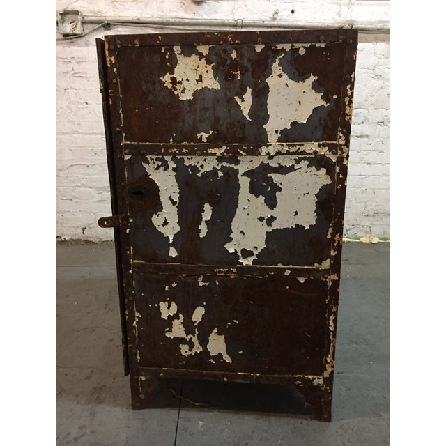 1930s Iron cabinet For Sale - Image 5 of 6