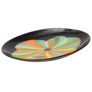 Seguso Italian Murano Glass Oval Centerpiece Platter For Sale