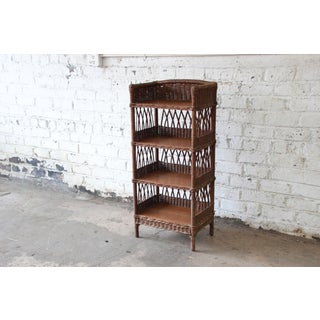 Antique Reed and Oak Bookcase by Heywood-Wakefield, Circa 1890s Preview
