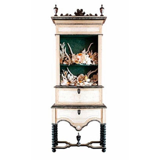 2000 - 2009 18th C Style Las Palmas Collection Paint Decorated Vitrine - Las Palmas Collection For Sale - Image 5 of 5