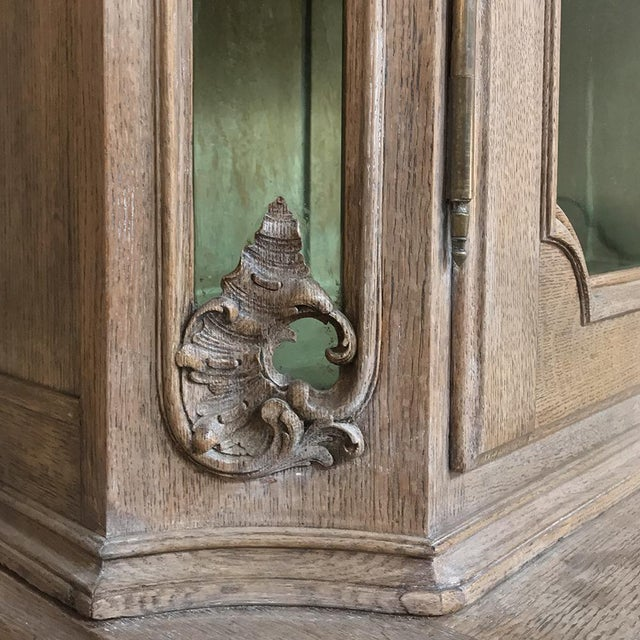 19th Century Country French Provincial Stripped Bookcase ~ Vitrine For Sale - Image 10 of 13