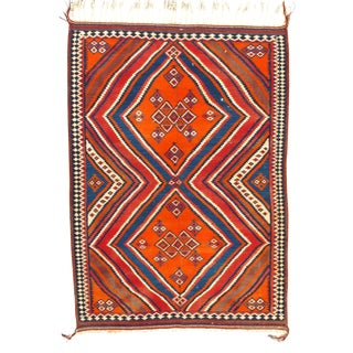 Pasargad N Y Persian Shiraz Ghashghaei Kilim Rug - 5′4″ × 7′6″ For Sale