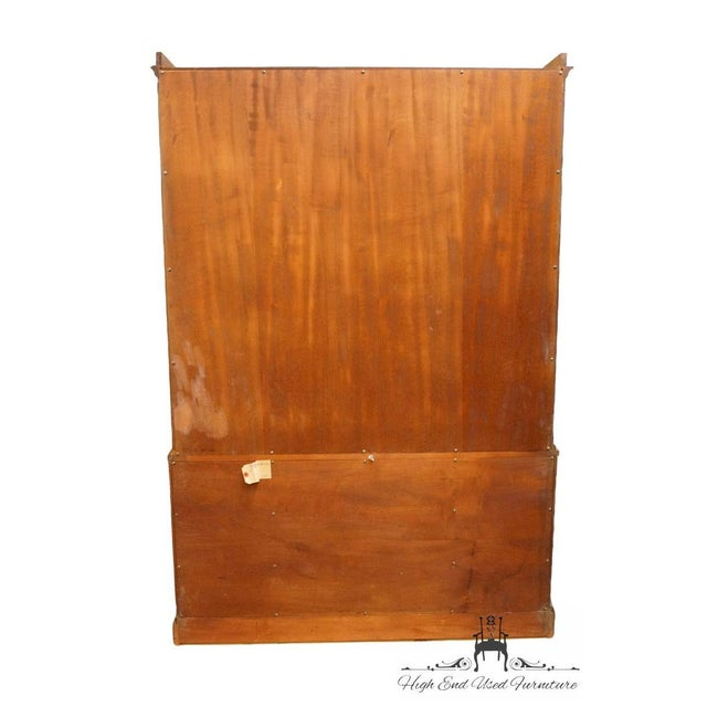 Late 20th Century Vintage Rway Mahogany Block Front Duncan Phyfe China Cabinet For Sale - Image 11 of 13