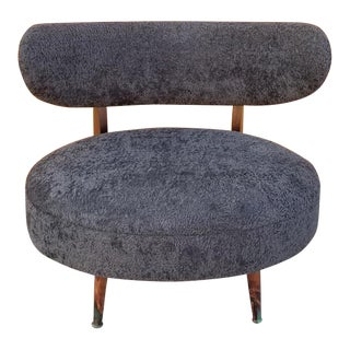 Mid Century Modern Otto Schultz Attributed Modernist Lounge Chair Newly Upholstered For Sale
