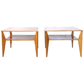 20th Century Swedish Two-Tier Side Tables - a Pair For Sale