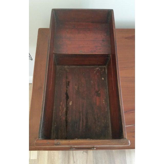 Elm Antique Asian Writing Desk For Sale - Image 7 of 11