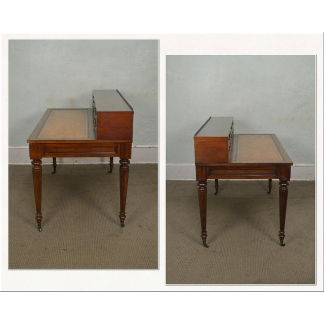 *STORE ITEM #: 17979 Drexel Heritage Covington Park Collection Regency Style Leather Top Mahogany Writing Desk (A) AGE /...