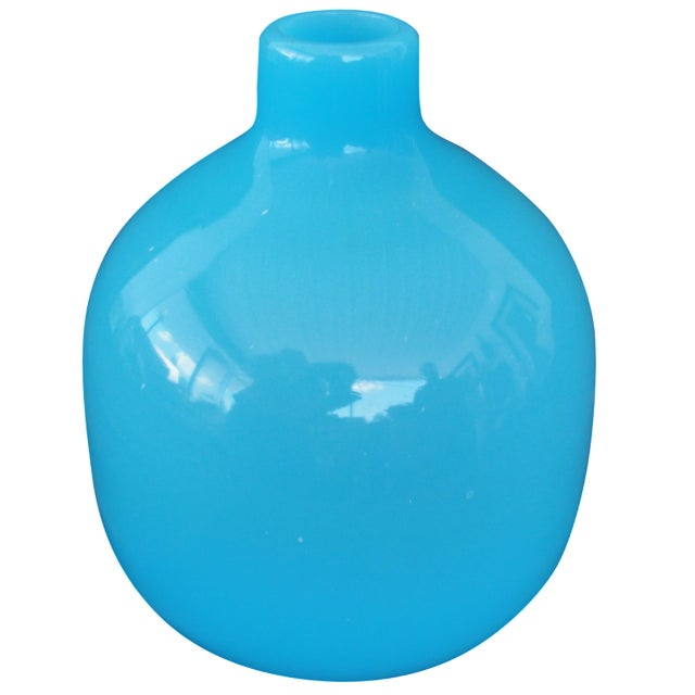 Mid-Century Modern Murano Blue Empoli Art Glass - Image 1 of 5