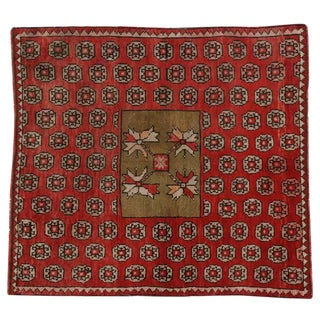 Antique Russian Karabagh Square Rug with Traditional Modern Style