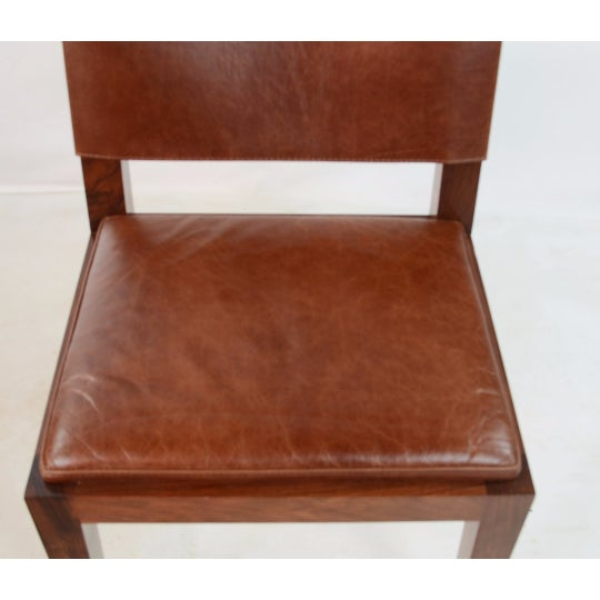 Hudson Furniture Modern Leather Chairs - Set of 4 - Image 6 of 6