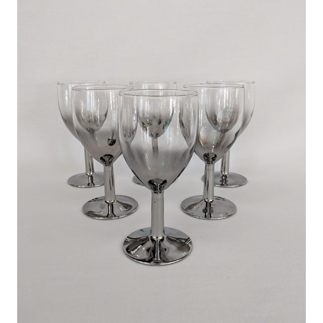 Lusterware Silver Ombre Glasses - Set of 6 For Sale - Image 13 of 13