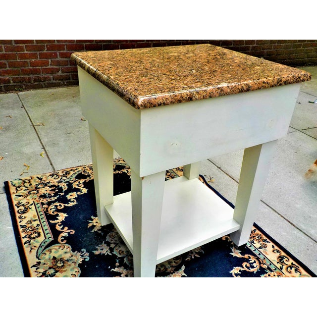 Food Preparation Work Table With Granite Top For Sale - Image 4 of 13