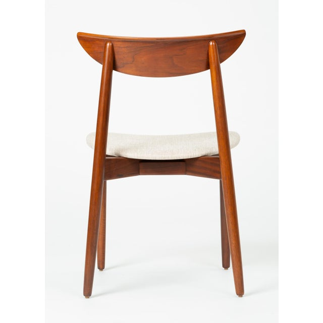 Set of Four Dining Chairs by Harry Østergaard for Randers Møbelfabrik For Sale - Image 9 of 13