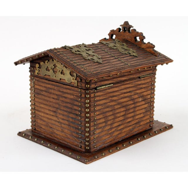 Late 19th Century 19th Century Antique Black Forest Cigar Box For Sale - Image 5 of 7