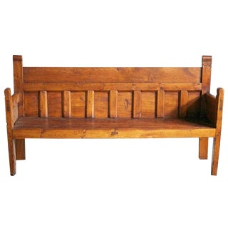19th Century Antique French Country Bench For Sale