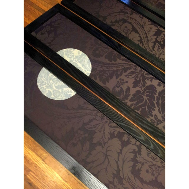 Blue 'Wolf Angst' Deep Purple Room Divider For Sale - Image 8 of 8