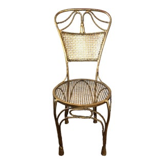Vintage Italian Gilt Iron Chair For Sale