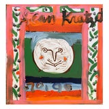 """Image of Framed Picasso """"Moon Face"""" Poster Oil Painting by Sean Kratzert For Sale"""