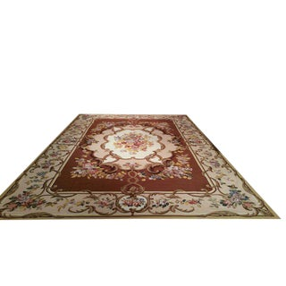 Aubusson Needlepoint Rug - 12x18 For Sale