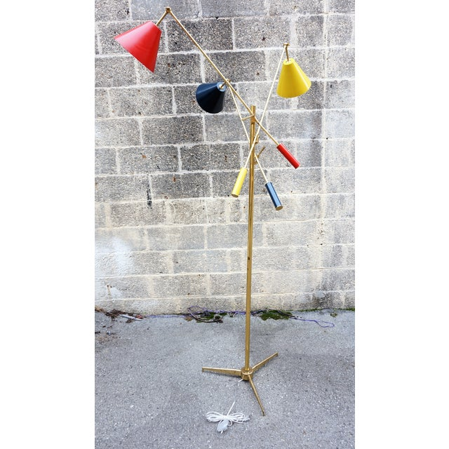 This lamp is being sold as is . It has been rewired with a floor switch. Angelo Lelli designed this for Arredoluce in...
