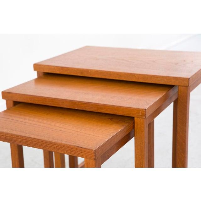 Wood Kai Kristiansen Nesting Tables For Sale - Image 7 of 8