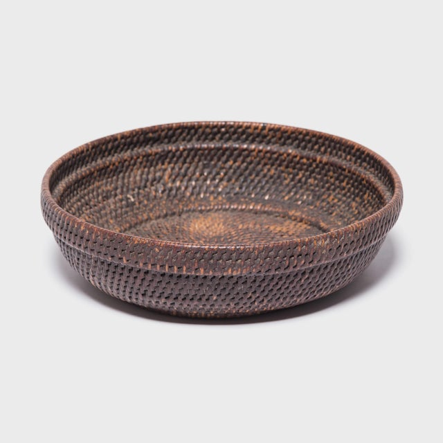 Chinese Woven Offering Plate For Sale In Chicago - Image 6 of 6