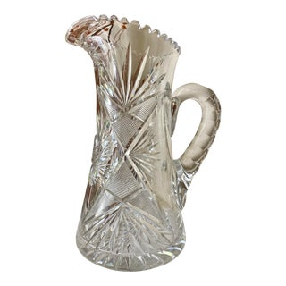 Early 20th Century American Brilliant Cut Glass Tankard For Sale