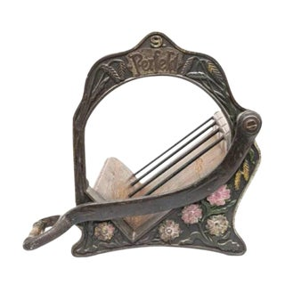 19th Century Bakery Bread Cutter Turned Countertop Wine Bottle Rack For Sale