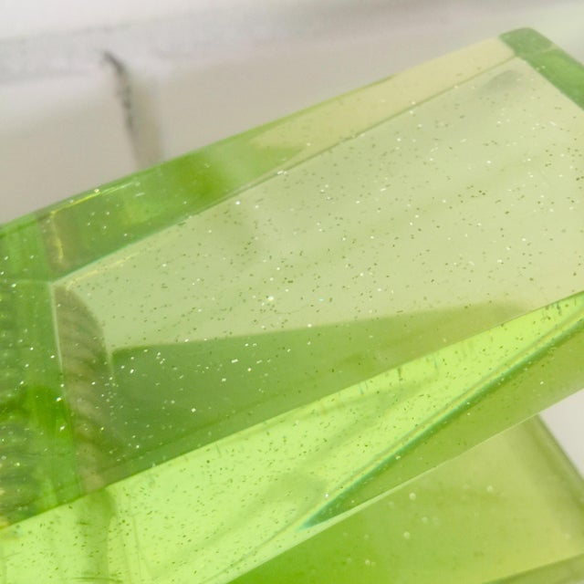 Lime Green Giant Lucite Clothespin For Sale - Image 9 of 12