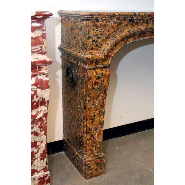 Early 20th Century French Louis XIV Breche D'alep Marble Mantel For Sale - Image 5 of 6