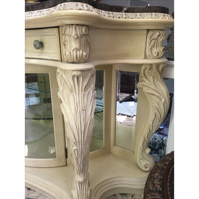 French Carved Server Display Cabinet by Pulaski For Sale - Image 5 of 11