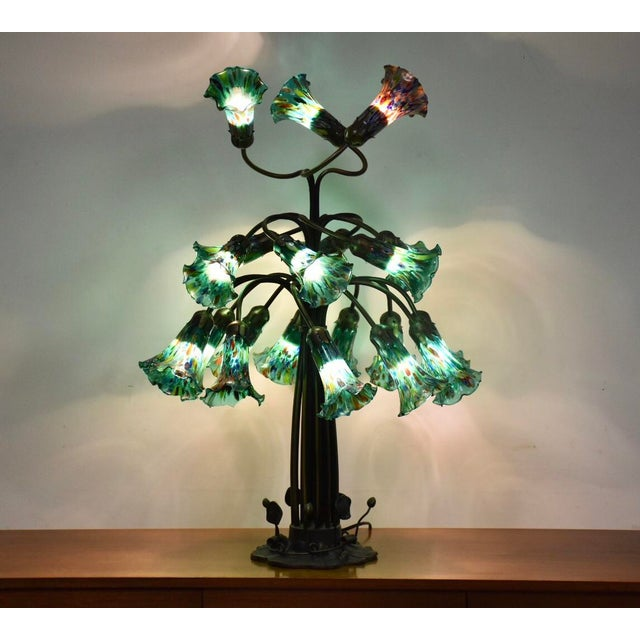 7bae0128ddb Tiffany Style 19 Light Table Lamp For Sale - Image 12 of 12