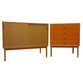 1960s Swedish Bertil Fridhagen Dining Set - 2 Pieces For Sale