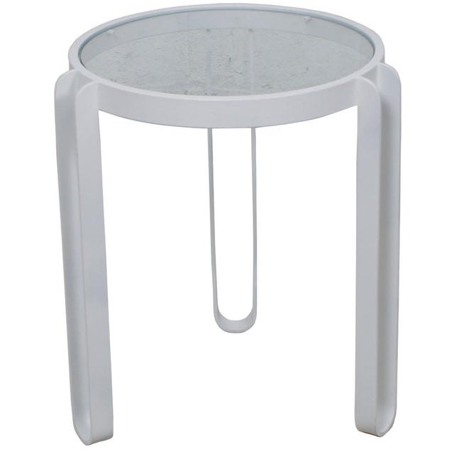 White Enamel Side Table - Image 1 of 4