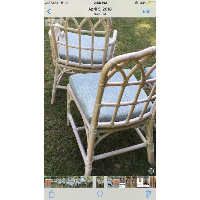 Asian McGuire Bamboo Chinese Chippendale Chairs - Set of 6 For Sale - Image 3 of 13