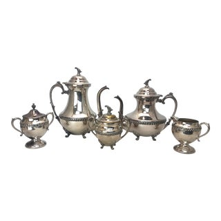 Mid Century Sheridan Silver Tea/Coffee Service For Sale