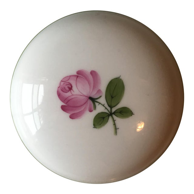 Wien Rose Motif Porcelain Jewelry Dish For Sale