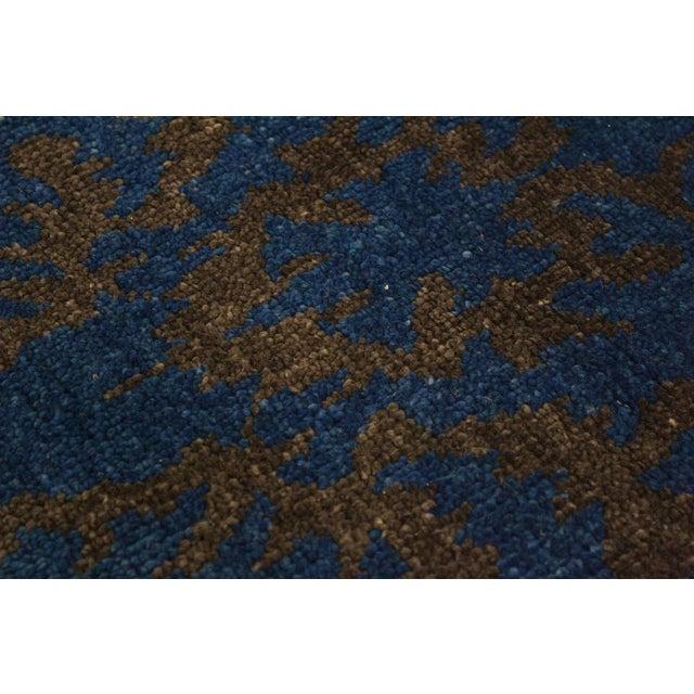2010s Cianna Modern Ramonita Blue/Ivory Wool & Viscouse Rug - 4'1 X 6'3 For Sale - Image 5 of 8