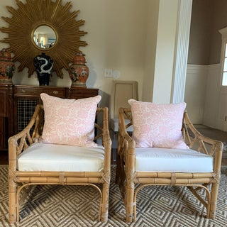 Bamboo and Rattan Club Chairs- a Pair Preview